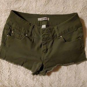 Size 4 refuge olive Jean shorts